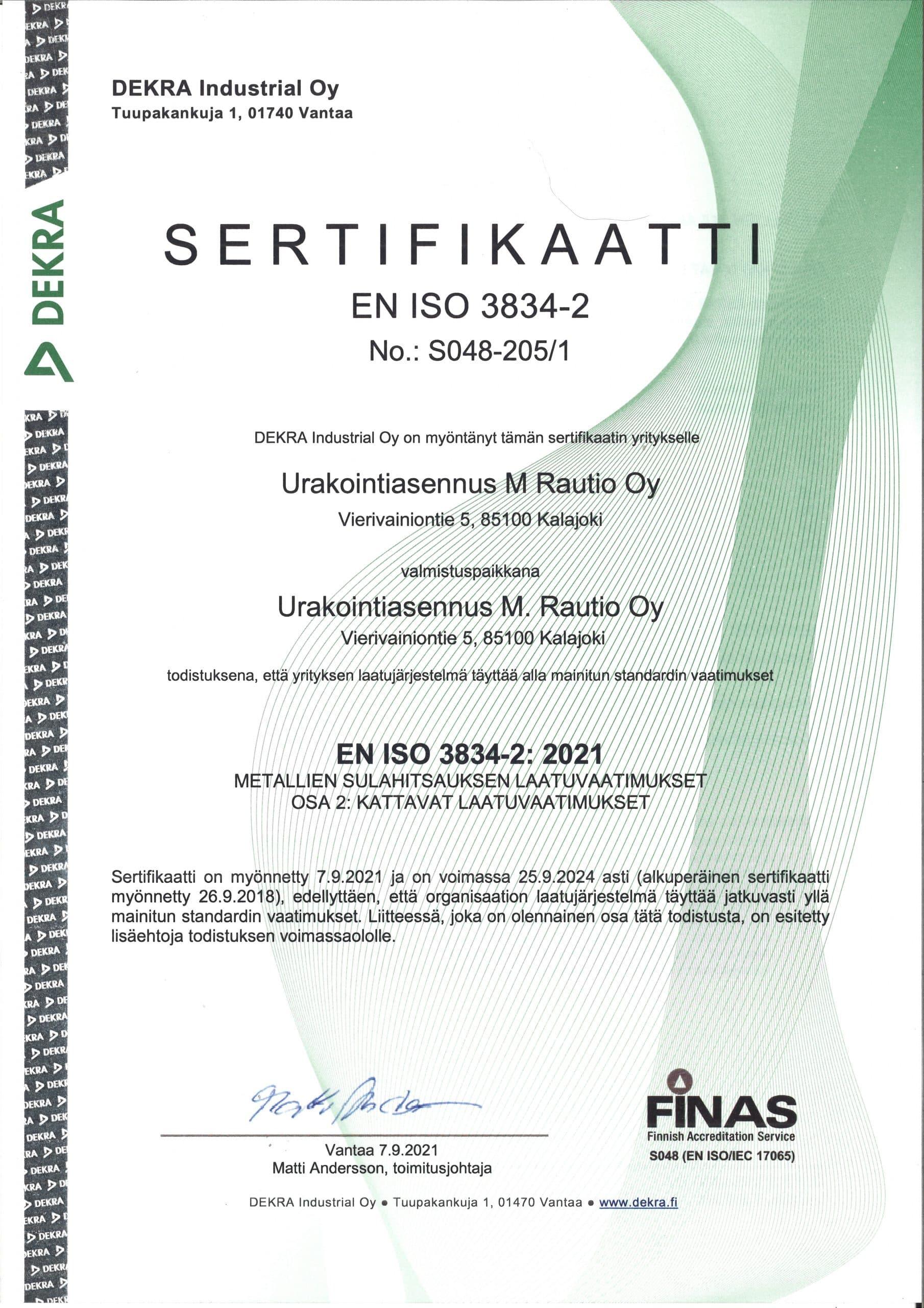 M. Rautio ISO3834-2021