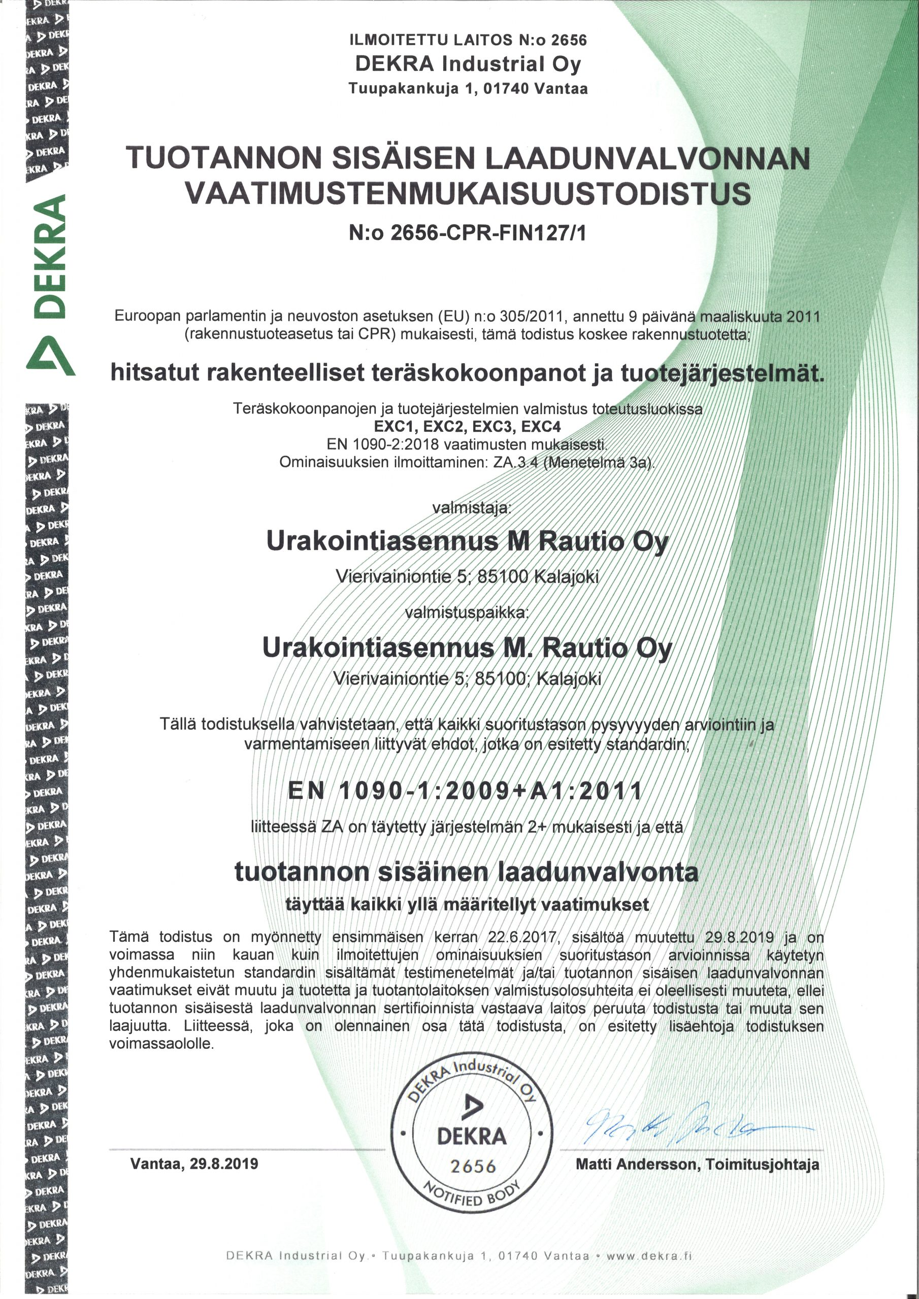 M. Rautio EN1090-2021